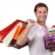 Man with gifts — Stock Photo #10492432