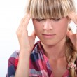 Portrait of a woman with headache — Stock Photo #10493088