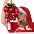 Womdressed in provocative Christmas outfit — Foto de stock #10493730