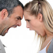 Couple having a screaming match — Stock Photo #10493732