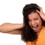 A desperate woman screaming — Stock Photo
