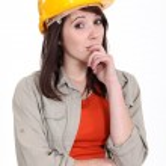 Thoughtful female apprentice — Stock Photo