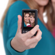 Two friends taking a picture of themselves. — Stock Photo