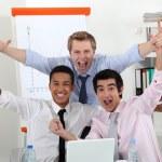 imprenditori di successo in ufficio — Foto Stock