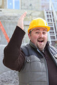 Overjoyed builder — Stock Photo