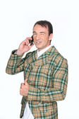 Farmer on the phone — Stock Photo