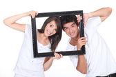 You've been framed! — Stock Photo