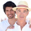 Portrait of grandfather and grandson — Stock Photo #10500243