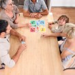 Stock Photo: Family board game
