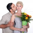 Husband kissing wife — Stock Photo #10500905