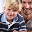 Father and son spending quality time together — Stock Photo #10501585