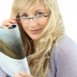 Blonde woman with glasses — Stock Photo #10505726