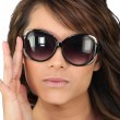 Royalty-Free Stock Photo: Young woman in oversized sunglasses