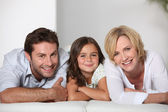 Parents with daughter — Stock Photo