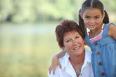Grandmother and granddaughter — Foto Stock