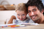 Father spending time with his daughter — Stock Photo
