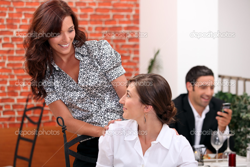 Meeting at the restaurant — Stock Photo #10500436