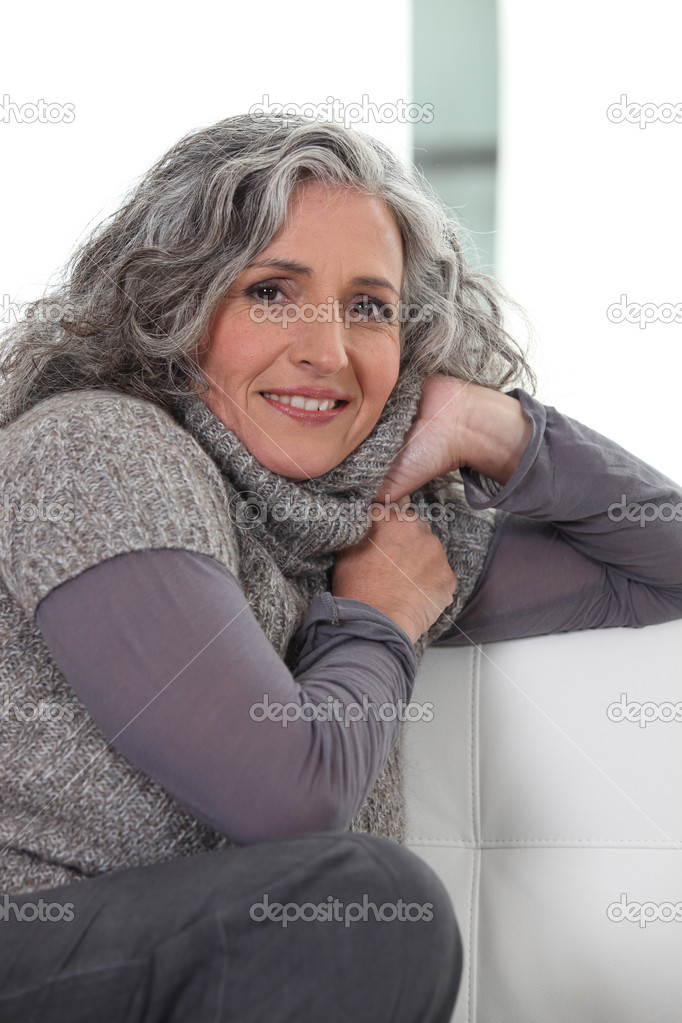 Woman in grey — Stock Photo #10506743