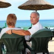 Couple on holiday together — Stock Photo