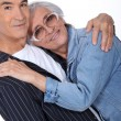 Senior couple embracing - Foto de Stock