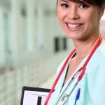 Портрет женщина-врач — Стоковое фото