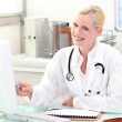Female doctor in consultation — Stock Photo