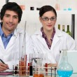 Laboratory workers — Stockfoto