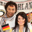 Couple supporting the German football team — Stock Photo #10517306