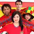 Stock Photo: Soccer fans supporting Spain