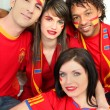 Group of Spanish football supporters — Stock Photo #10517597
