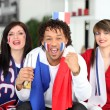 French football fans — Stock Photo