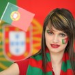 Patriotic Portuguese woman — Stock Photo