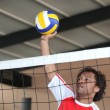 Stock Photo: A man playing volleyball