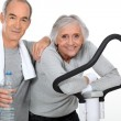 Elderly couple doing sport — Stock Photo #10519077