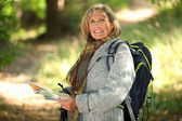 Hiking for Seniors — Stock Photo