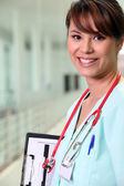 Portrait of female doctor — Stock Photo