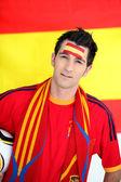 Spanish football fan — Stock Photo