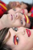 Tutkulu İspanyol taraftarları — Stok fotoğraf