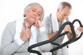 Couple of seniors having exercise — Stock Photo
