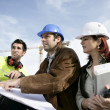 Royalty-Free Stock Photo: Staff on construction site