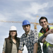 Foreman and his two colleagues — Stock Photo #10520526