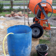 Portable cement mixer on site — Stockfoto