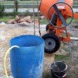 Portable cement mixer on site — ストック写真