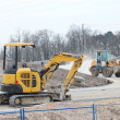 Crawlers on construction site — Stock Photo #10521012