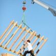 Crane lifting structure - Stock Photo