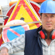 Stock Photo: Confident foreman