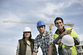 Foreman and his two colleagues — Stock Photo