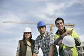 Foreman y sus dos colegas — Foto de Stock
