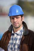 Construction worker on site — Stock Photo