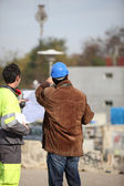 Men on a construction site — Stock Photo